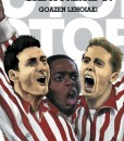 Cartel cinematográfico, basada en la que posiblemente es la mejor película de futbol de la historia (Evasión y victoria) Los actores originales han sido sustituidos por tres grandes Leones del Athletic de la actualidad: Aduriz, Williams y Muniain.