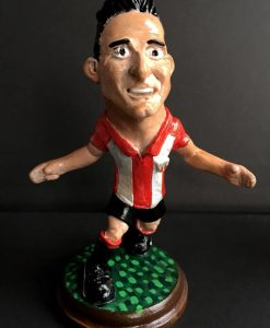 Figura de Aduriz, jugador del athletic de bilbao. Escultura en resina de poliuretano.