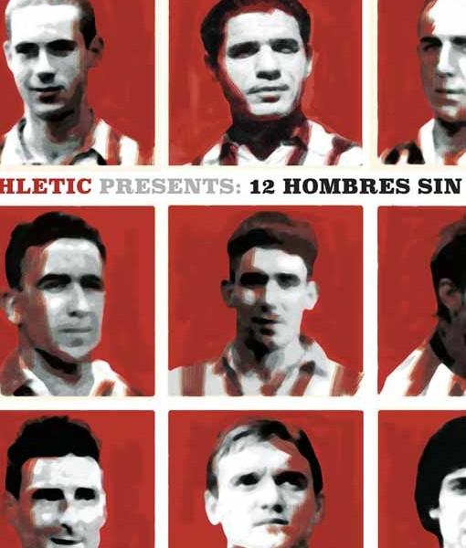 Poster con los mejores goleadores del Athletic: Zarra, Dani. Panizo, Gainza, Urzaiz, Aduriz, Sarabia, Fidel Uriarte, ...