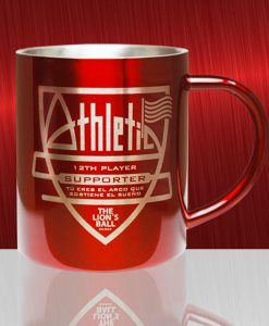 Taza de metal Athletic supporter.