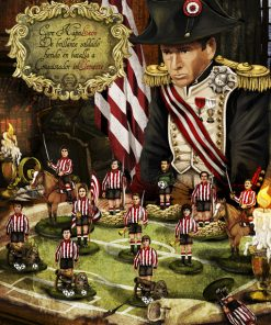 Javier Clemente como Napoleón del Athletic y los principales jugadores de la época como soldados.