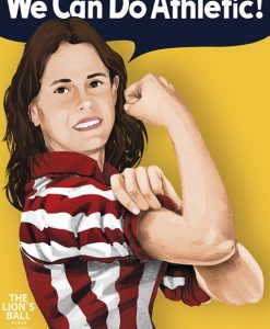 Versión del famoso cartel We can do it! para el Athletic femenino.