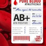 Análisis de sangre athleticzale personalizable. Glóbulos rojos y blancos, txapelas y balones de fútbol. Aúpa Athletic.