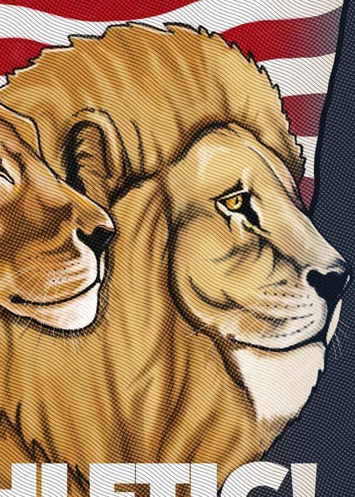 Familia de leones: león, leona y cachorro del Athletic